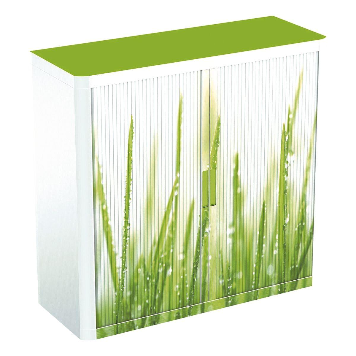 easyOffice Schrank abschließbar, 110 x 104 cm, Rollladen ...