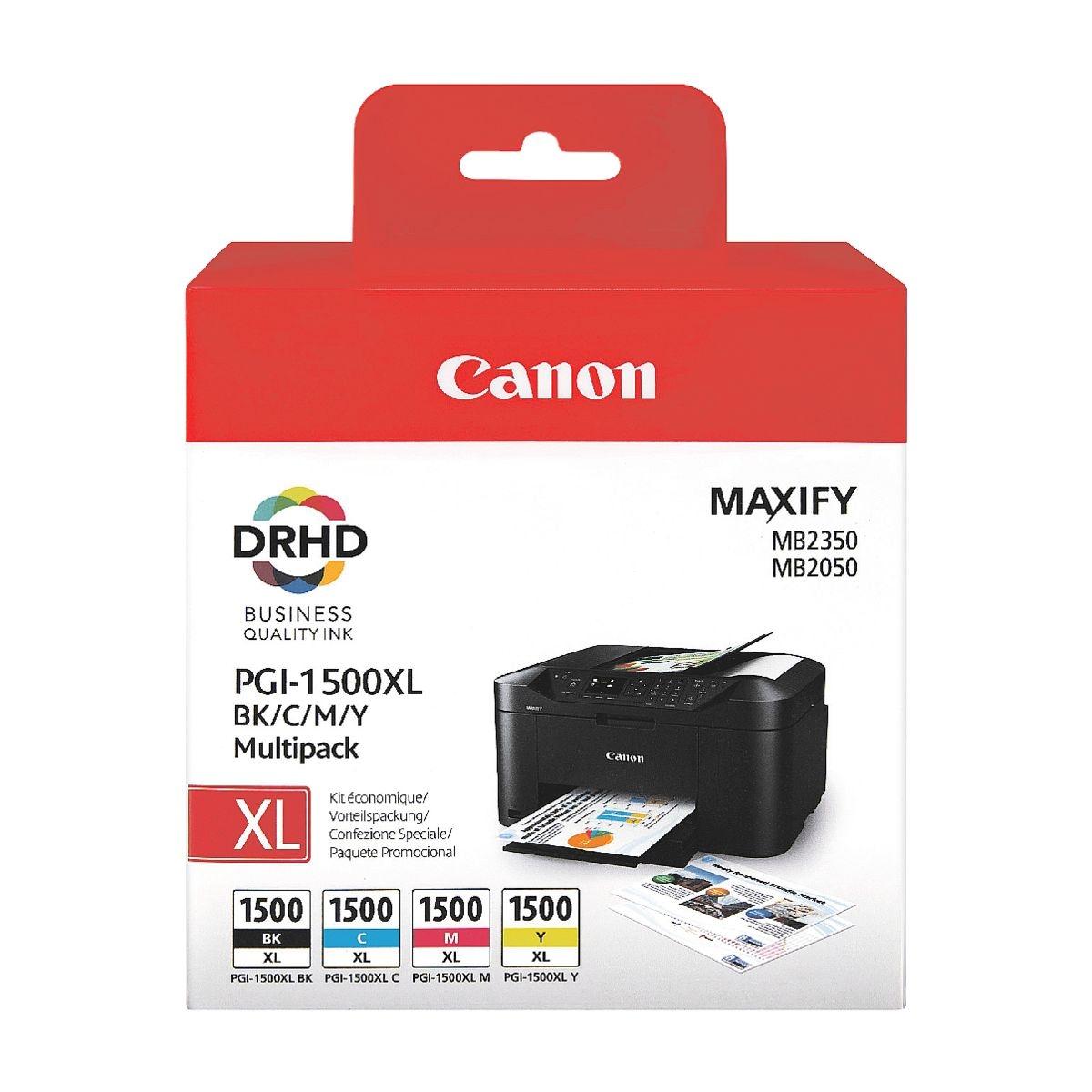 Canon Tintenpatronen-Set »PGI-1500XL BK/C/M/Y«