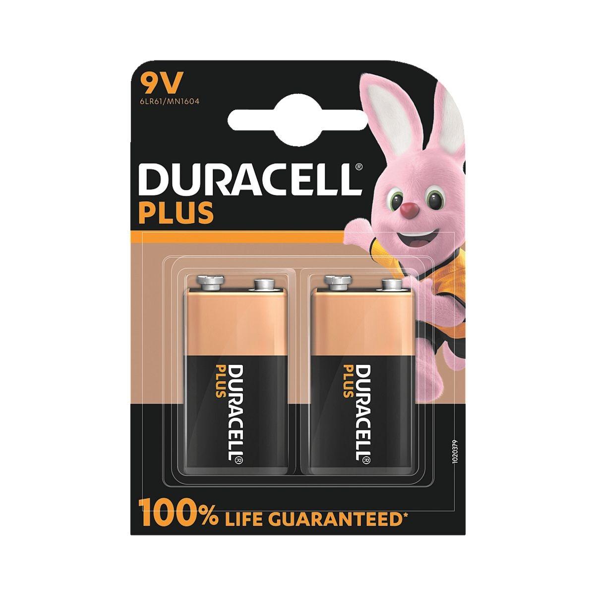Duracell 2er-Pack Batterien »Plus Power« E-Block / 6LR61