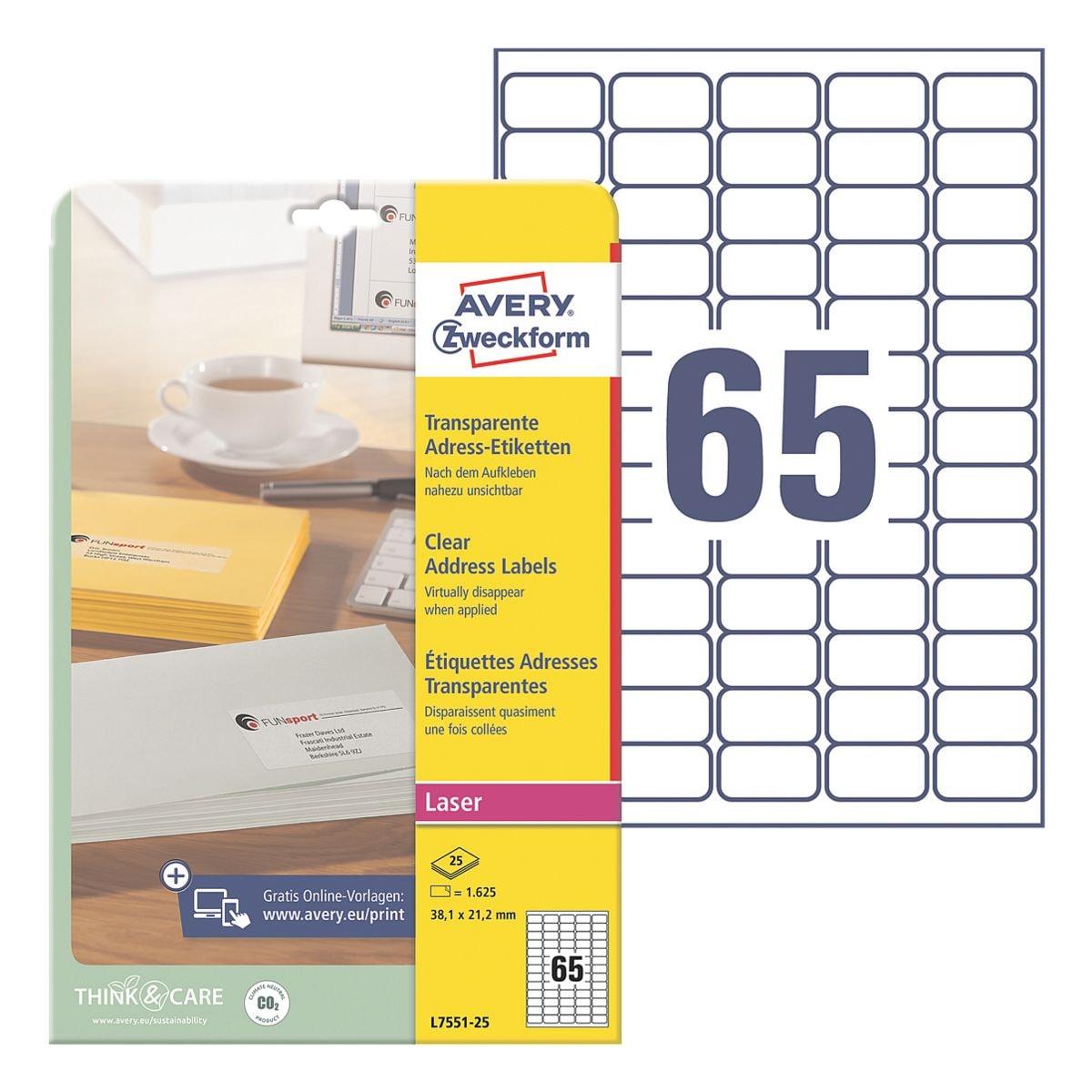 Avery Zweckform 1625er-Pack Folien-Etiketten »L7551-25«