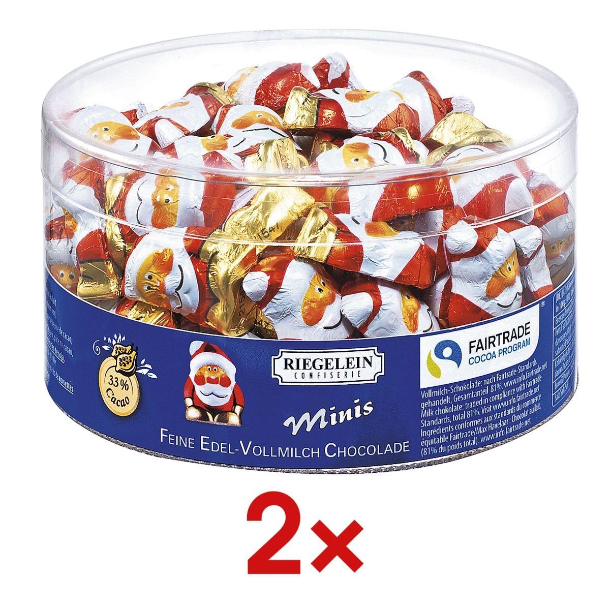 Riegelein Confiserie 2 Packungen Schokoladen-Weihnachtswichtel