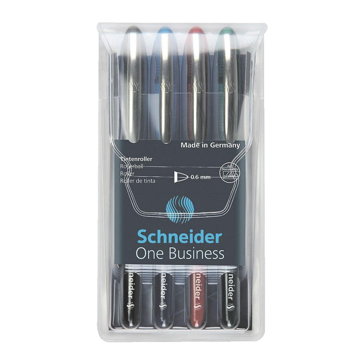 4x Tintenroller Schneider One Business 183094