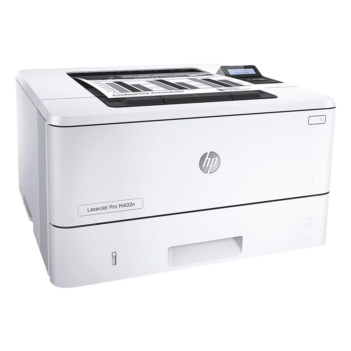 HP Laserdrucker LaserJet Pro M402n, A4 schwarz weiß Laserdrucker, 1200 x 1200 dpi, mit LAN