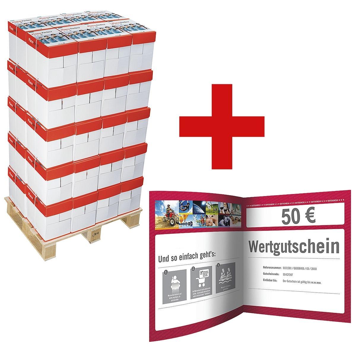 200x Multifunktionales Druckerpapier A4 Plano Perfect - 100000 Blatt gesamt inkl. 50€ MyDays-Gutschein