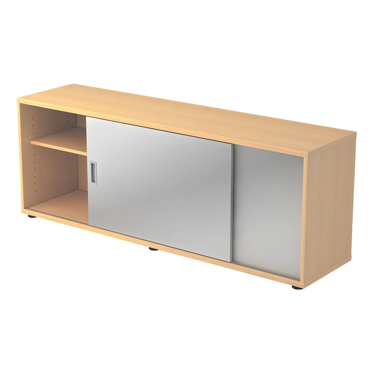 hammerbacher sideboard alicante mit silbernen schiebet ren bei otto office g nstig kaufen. Black Bedroom Furniture Sets. Home Design Ideas