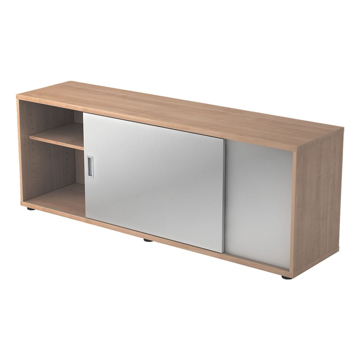 hammerbacher sideboard alicante mit silbernen. Black Bedroom Furniture Sets. Home Design Ideas