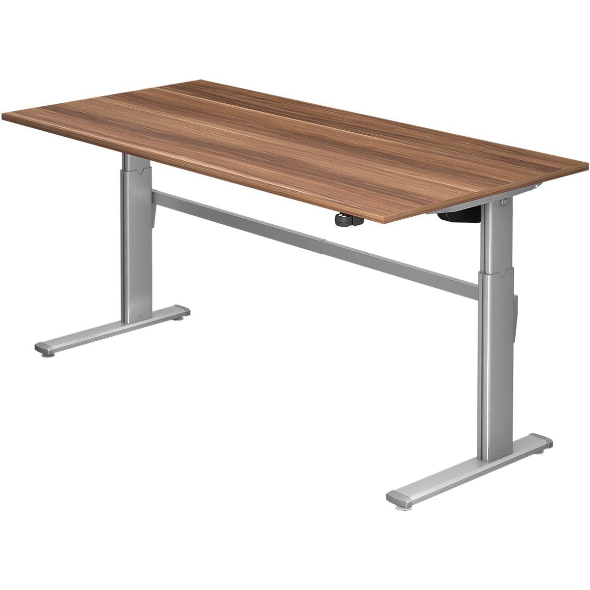 hammerbacher schreibtisch h henverstellbar elektrisch upper desk 200 cm c fu alufarben. Black Bedroom Furniture Sets. Home Design Ideas