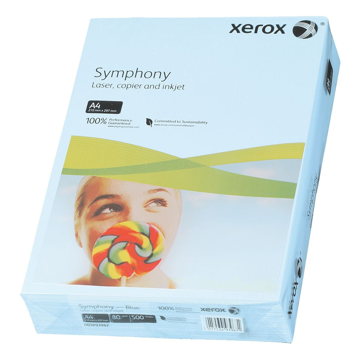 Farbiges Druckerpapier A4 Xerox Symphony - 500 Blatt gesamt