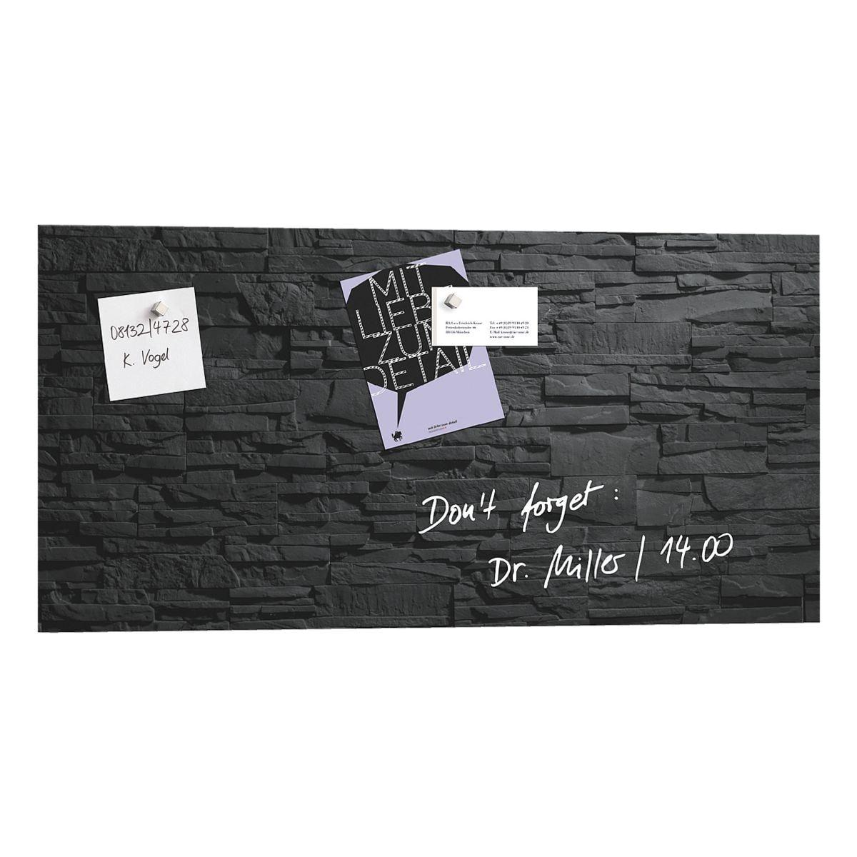 sigel glas magnettafel artverum schiefer stone 91 x 46 cm bei otto office g nstig kaufen. Black Bedroom Furniture Sets. Home Design Ideas