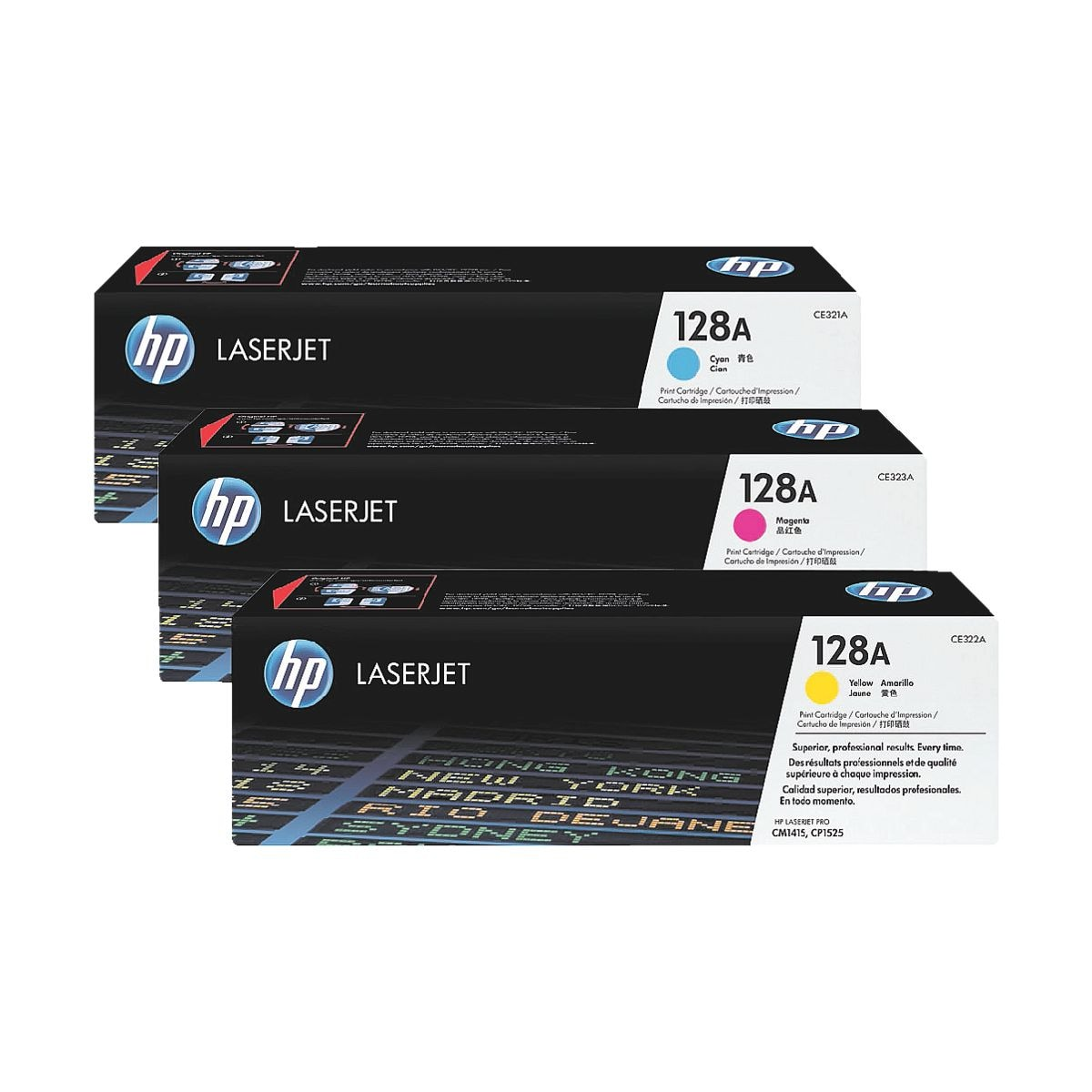 HP Hewlett Packard Druckkassetten-Set »HP CF371AM« HP 128A