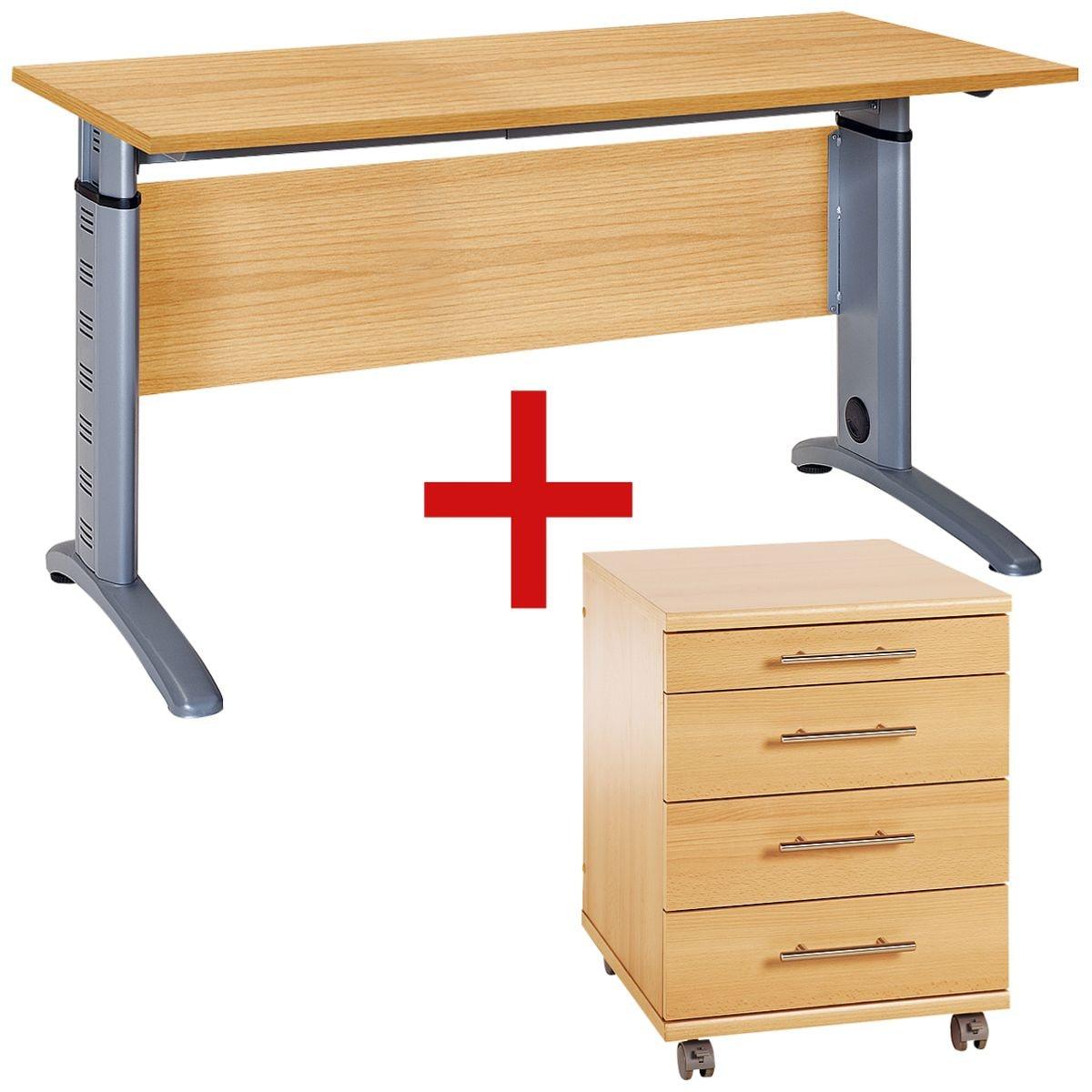 m bel set rom 2 teilig schreibtisch mit c fu bei otto office g nstig kaufen. Black Bedroom Furniture Sets. Home Design Ideas