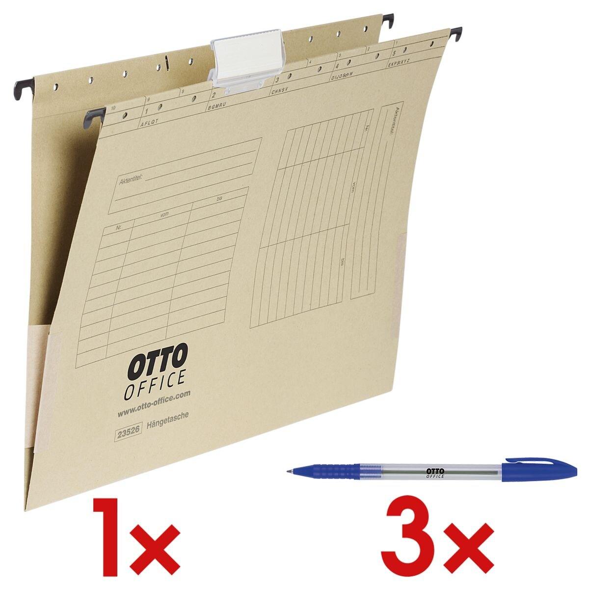 OTTO Office Hängetaschen inkl. 3x Einweg-Kugelschreiber »Eco Stick«