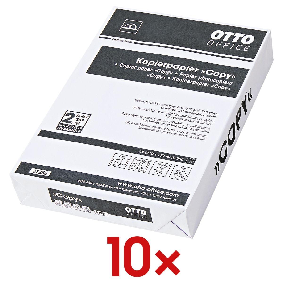 10x Kopierpapier A4 OTTO Office Budget COPY - 5000 Blatt gesamt, 80g/qm