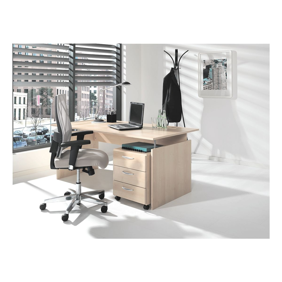 wellem bel m bel set adria 2 teilig schreibtisch mit wangenfu bei otto office g nstig kaufen. Black Bedroom Furniture Sets. Home Design Ideas