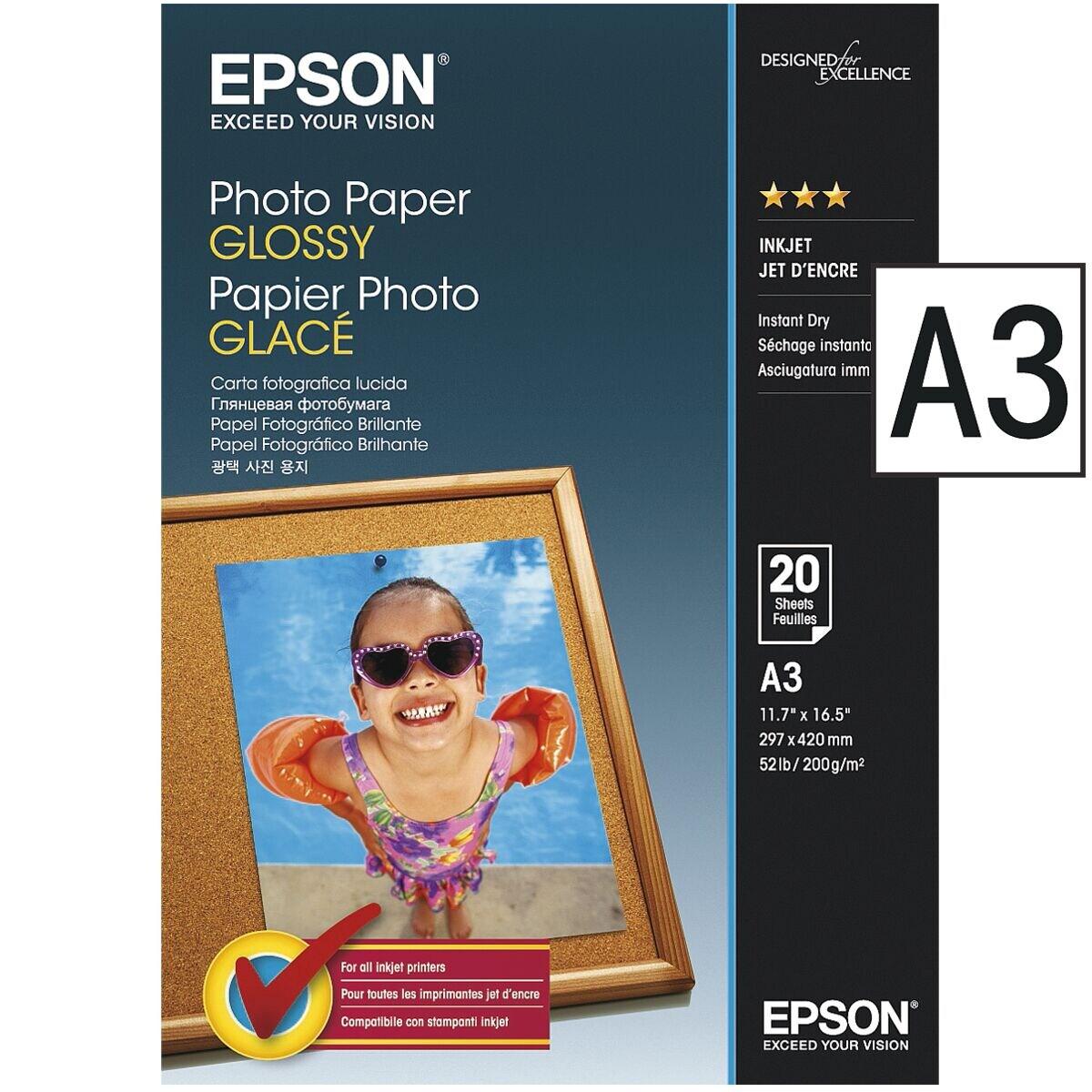Epson Fotopapier »Photo Paper Glossy« (A3 - 20 Blatt)