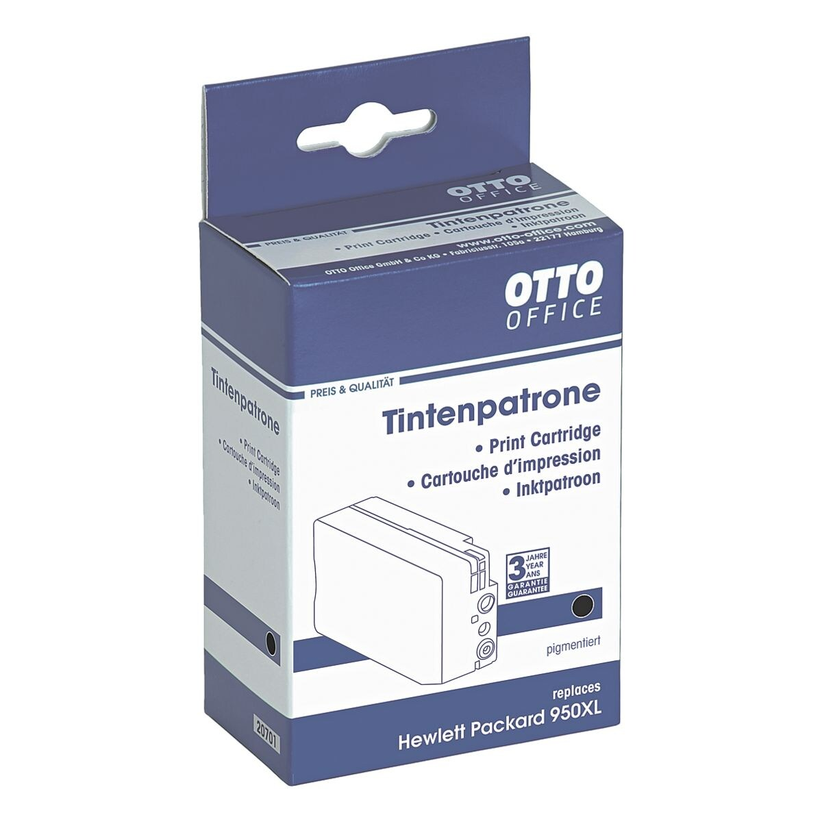 otto office tintenpatrone ersetzt hp cn045ae nr 950xl bei otto office g nstig kaufen. Black Bedroom Furniture Sets. Home Design Ideas