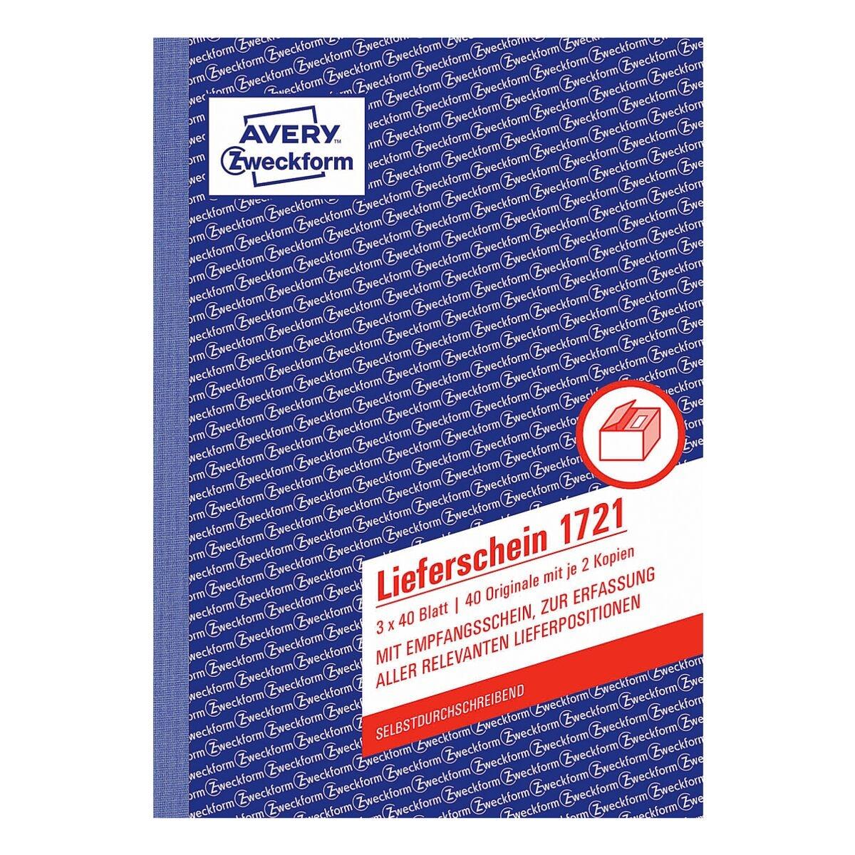 Avery Zweckform Lieferschein »1721« A5 SD mit Empfangsschein