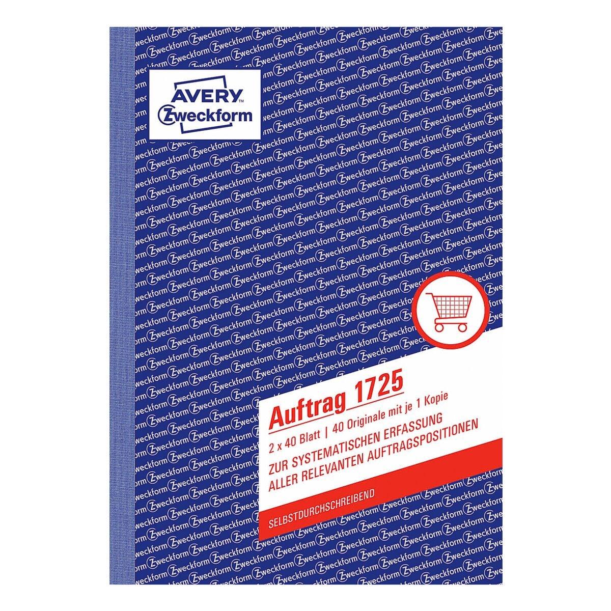 Avery Zweckform Formularbuch »Auftrag« A5 - 2-fach