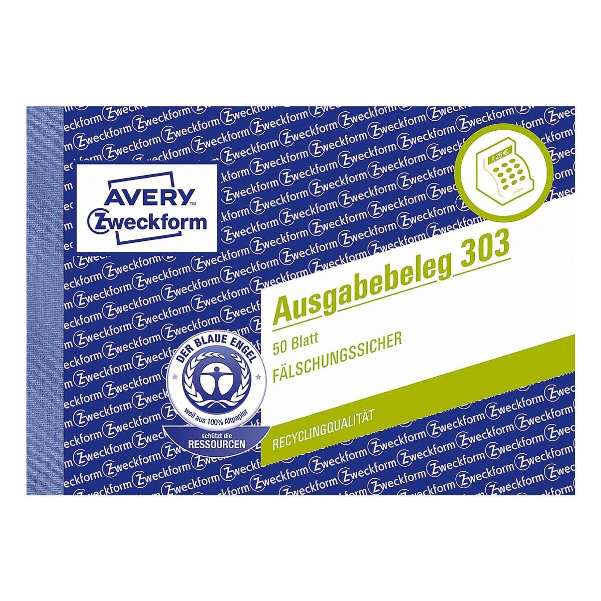 Avery Zweckform Formularbuch »Ausgabebeleg mit Dokumentendruck«