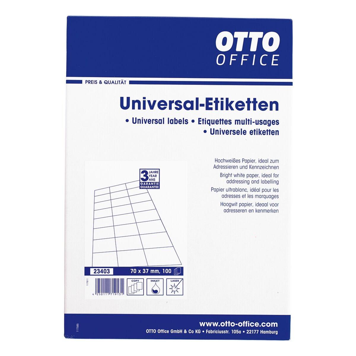 OTTO Office 2400er-Pack Universal Klebeetiketten - C6 ohne Rand