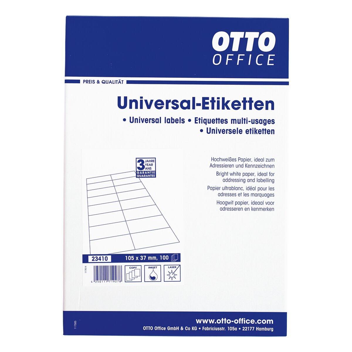 OTTO Office 1600er-Pack Universal Klebeetiketten