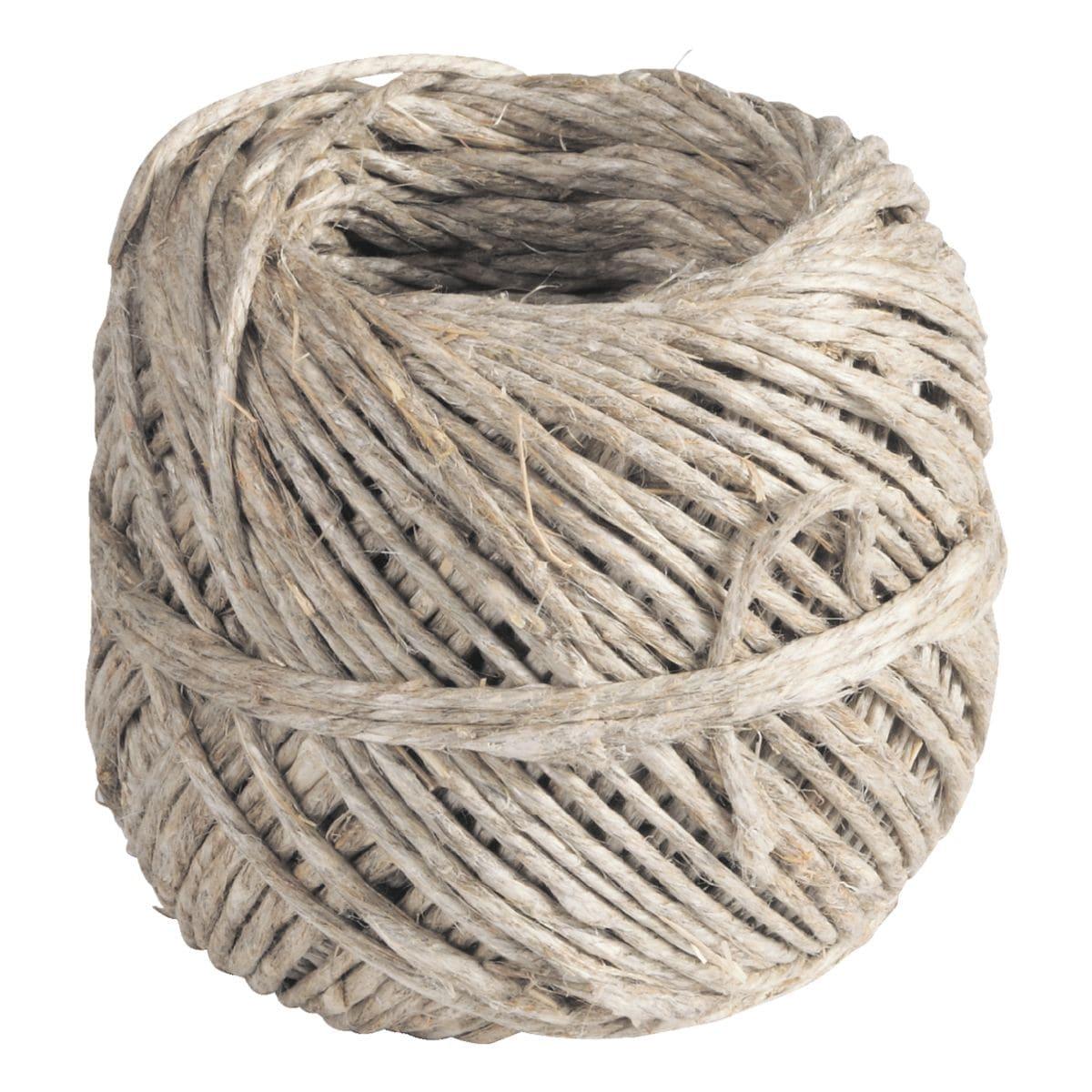 40m Flachs-Kordel mit 1,0 bis 1,5 mm Stärke