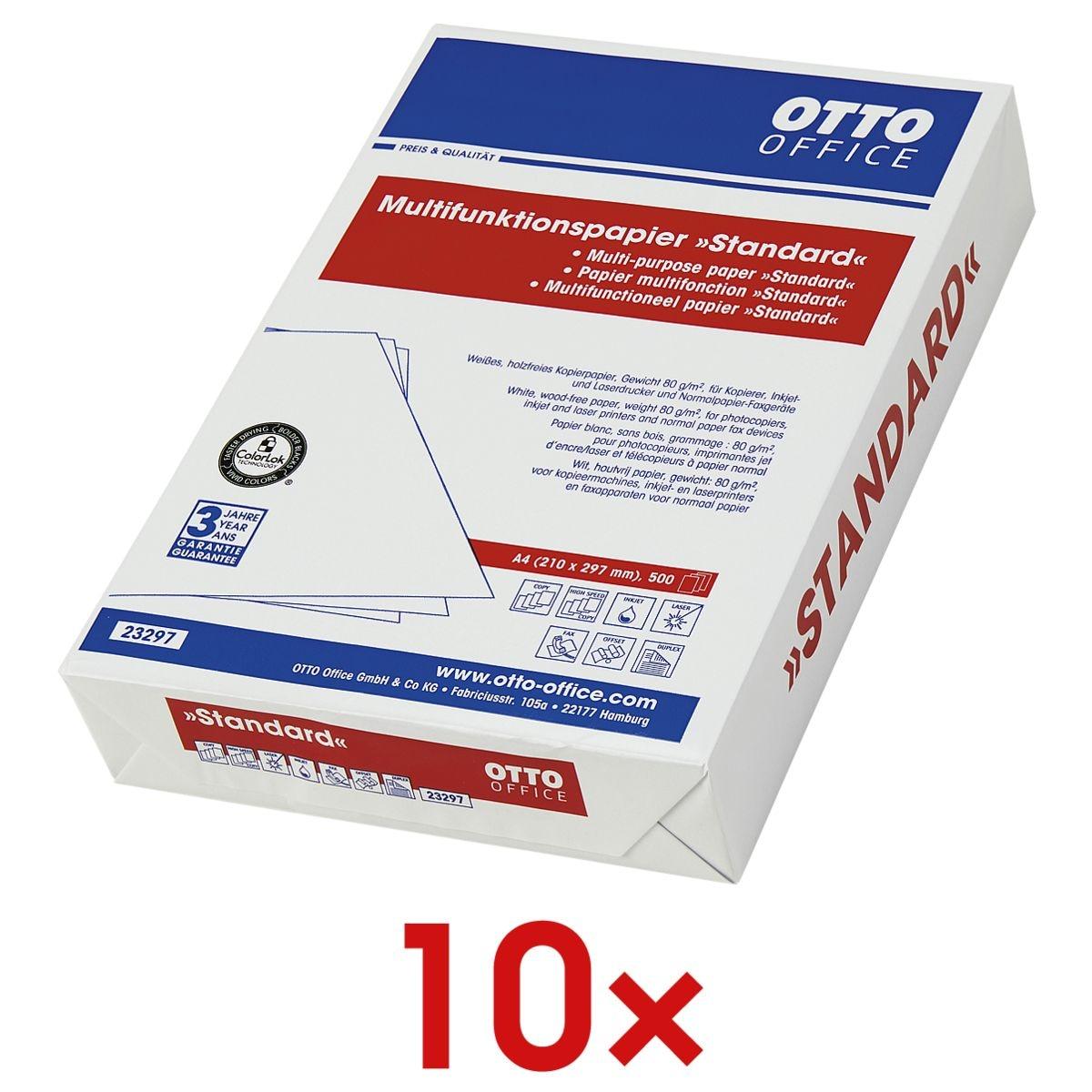 10x Multifunktionspapier A4 OTTO Office Standard - 5000 Blatt gesamt