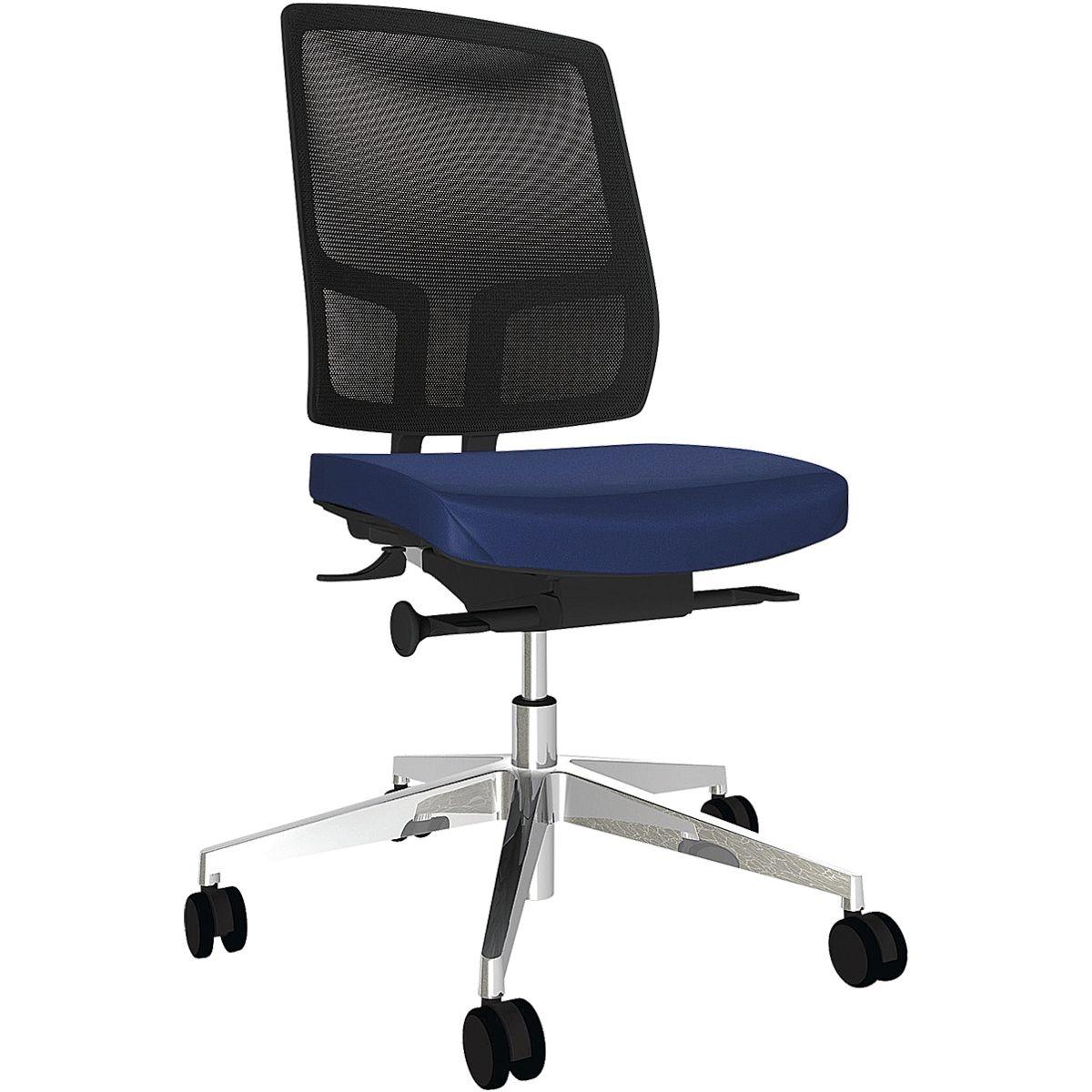 Bürostuhl fm Büromöbel »Netgo« ohne Armlehnen, Fußkreuz: Aluminium ...