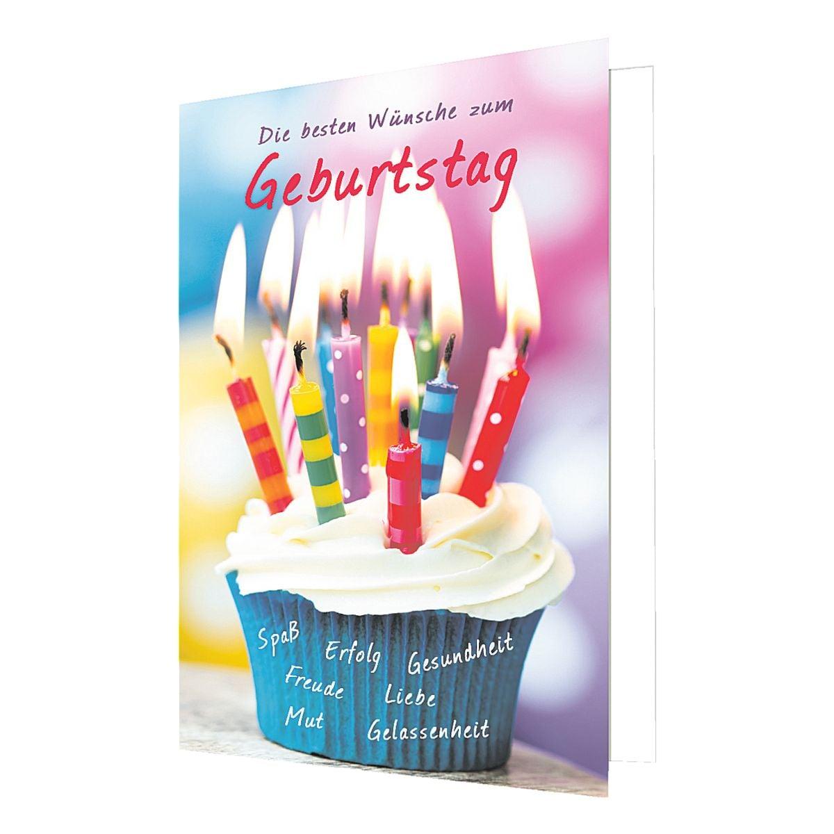 Grußkarte LUMA KARTENEDITION Geburtstag, Sonderformat, mit Umschlag, 6 Stück