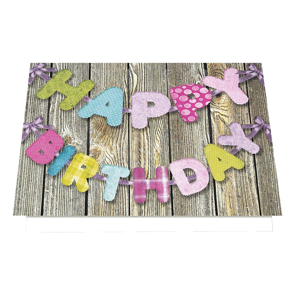 Grußkarte LUMA KARTENEDITION Happy Birthday, Sonderformat, mit Umschlag, 6 Stück