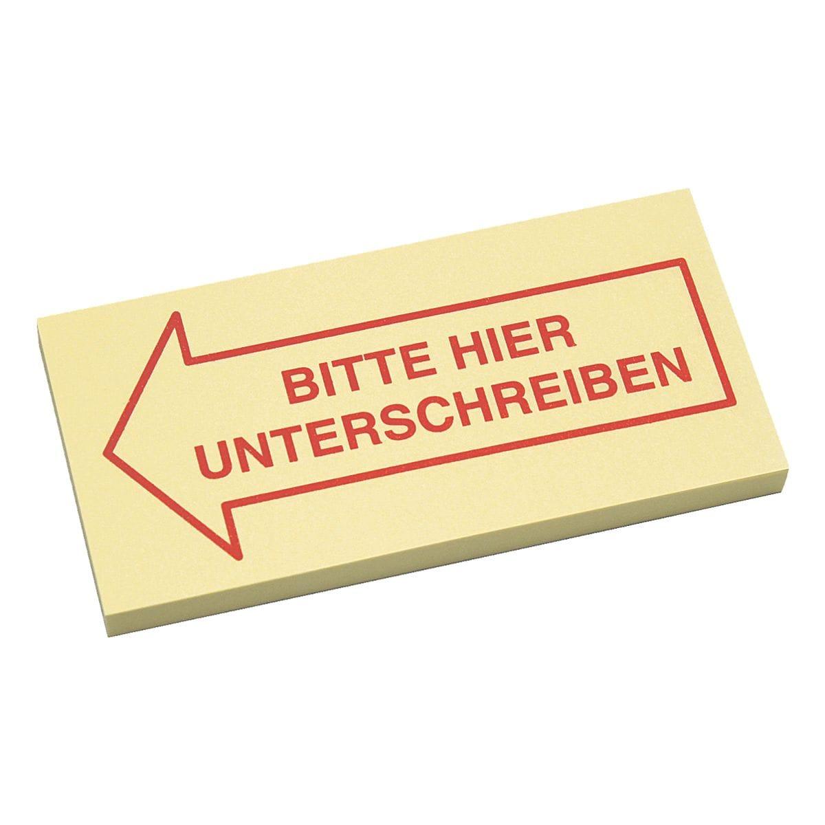 inFO Haftmarker Bitte hier Unterschreiben 70 x 35 mm, Papier
