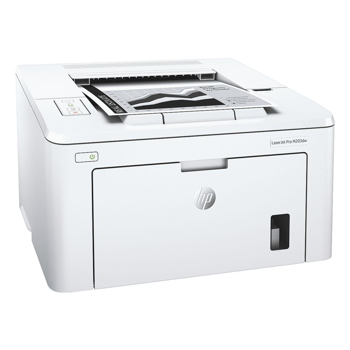 HP Laserdrucker LaserJet Pro M203dw, A4 schwarz weiß Laserdrucker, 1200 x 1200 dpi, mit LAN und WLAN