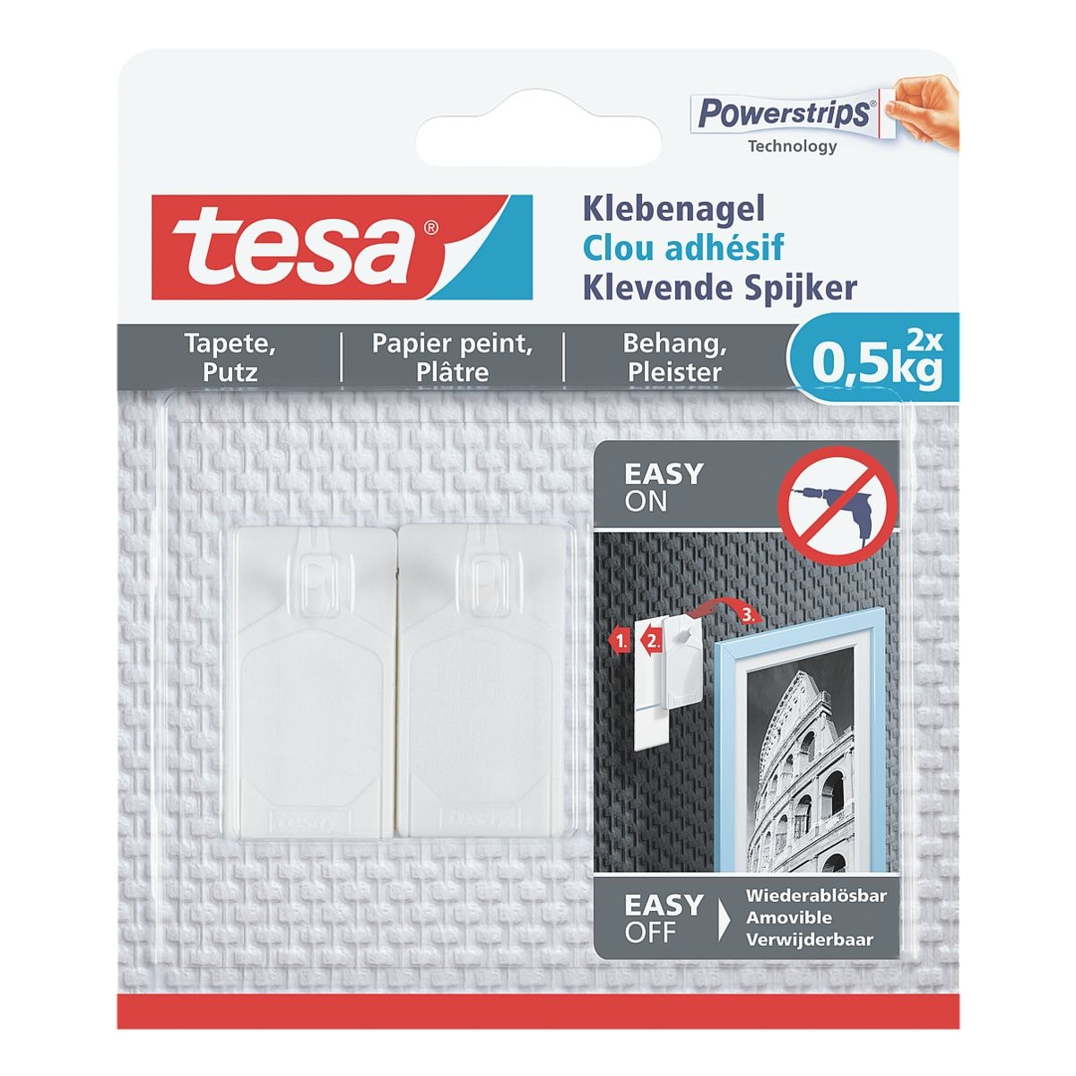 tesa Klebenagel für Tapete und Putz 77772