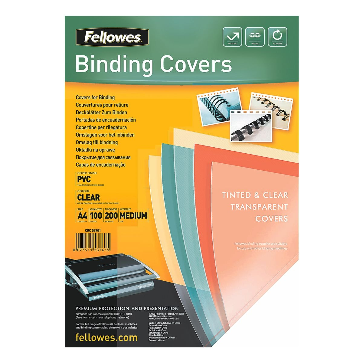 Fellowes Präsentationsdeckblatt