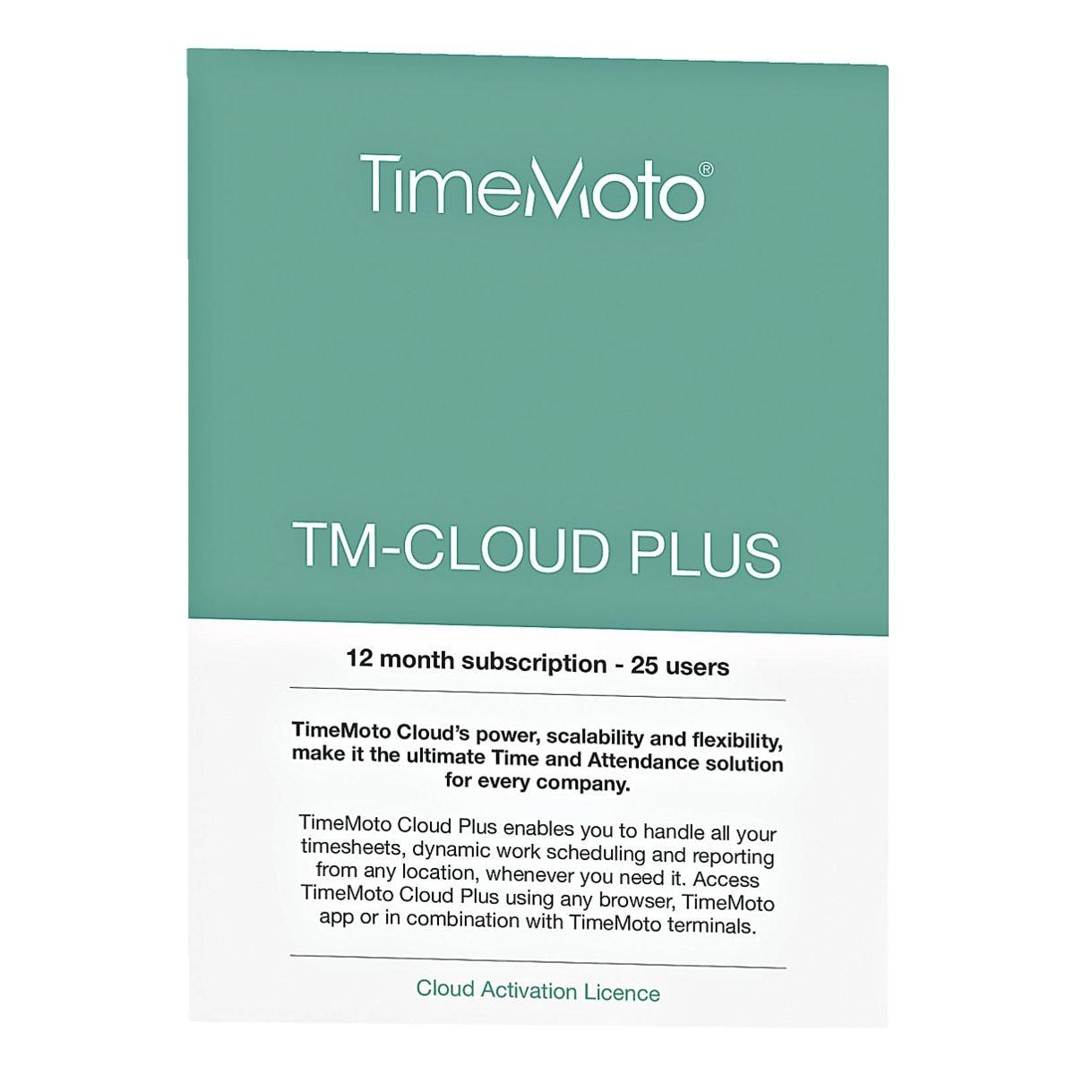 TimeMoto Zeiterfassungssoftware »TM-Cloud Plus«
