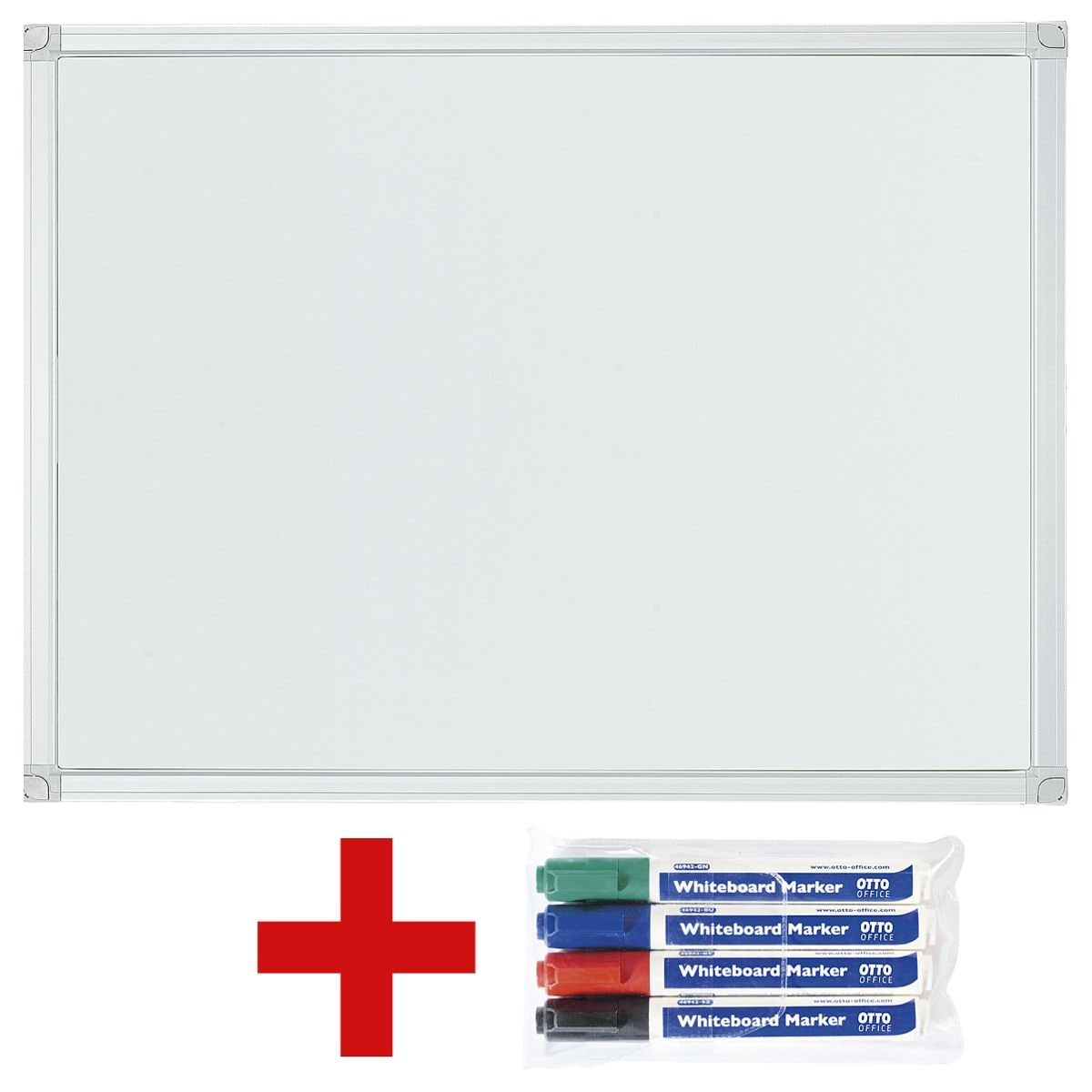 OTTO Office Whiteboard lackiert, 60x45 cm inkl. 4er-Pack Whiteboard-Marker