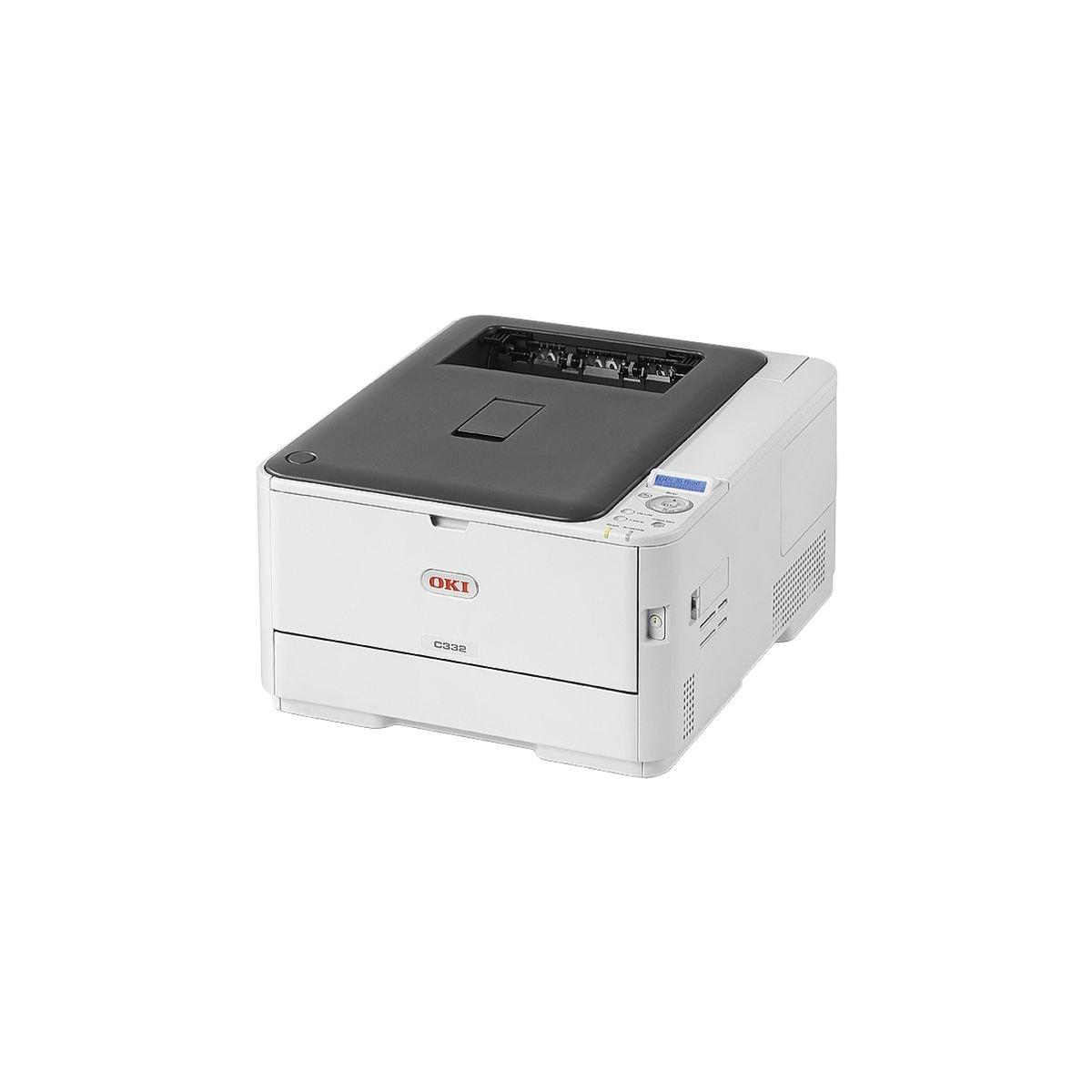OKI C332dn Laserdrucker, A4 Farb-Laserdrucker, 1200 x 600 dpi, mit LAN