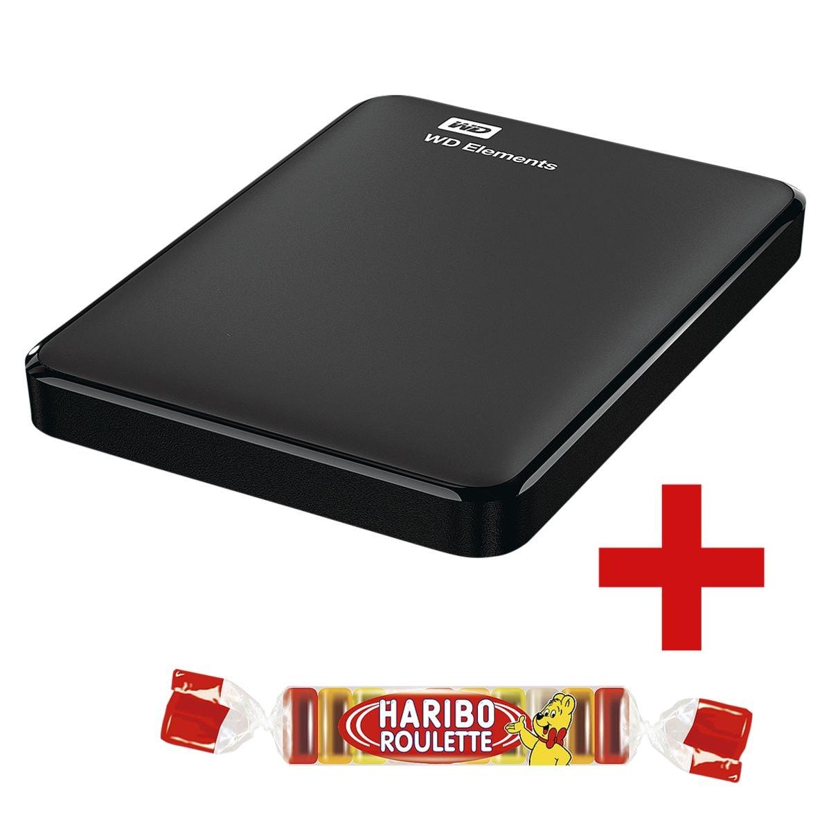Westerndigital Elements 1 TB, externe HDD-Festplatte, USB 3.0, 6,35 cm (2,5 Zoll), inkl. Fruchtgummi »Roulette« 25 g