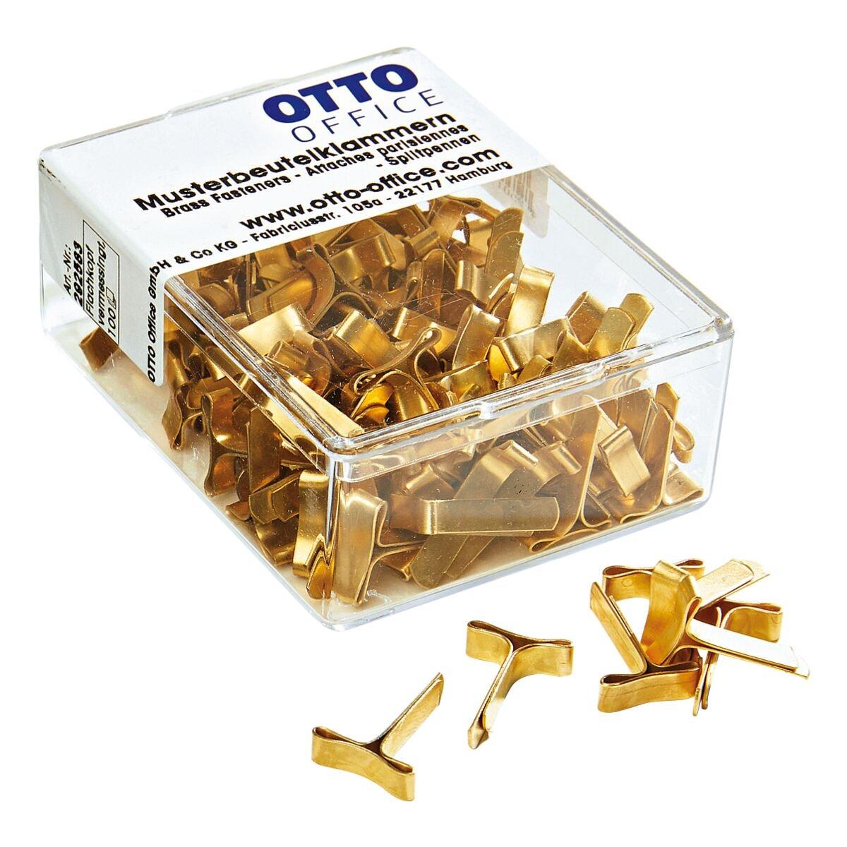 OTTO Office Musterbeutel-Klammern, goldfarben - 100 Stück