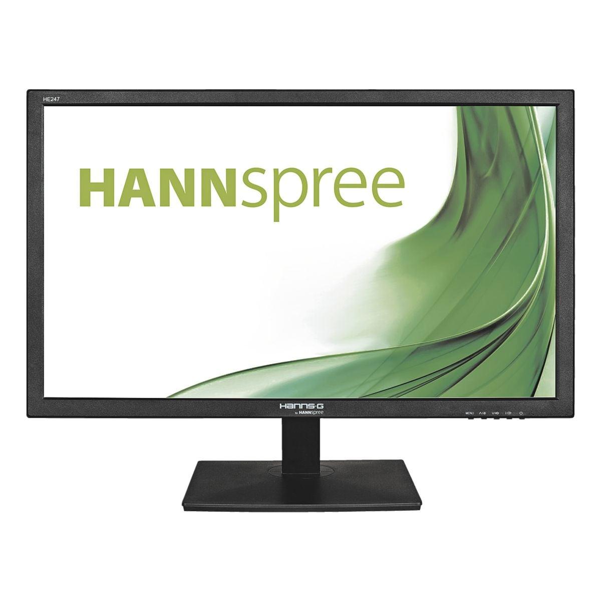 Hannspree HE247DPB LED Monitor, 60 cm (23,6''), 16:9, WUXGA, VGA, DVI, 3,5-mm-Stecker