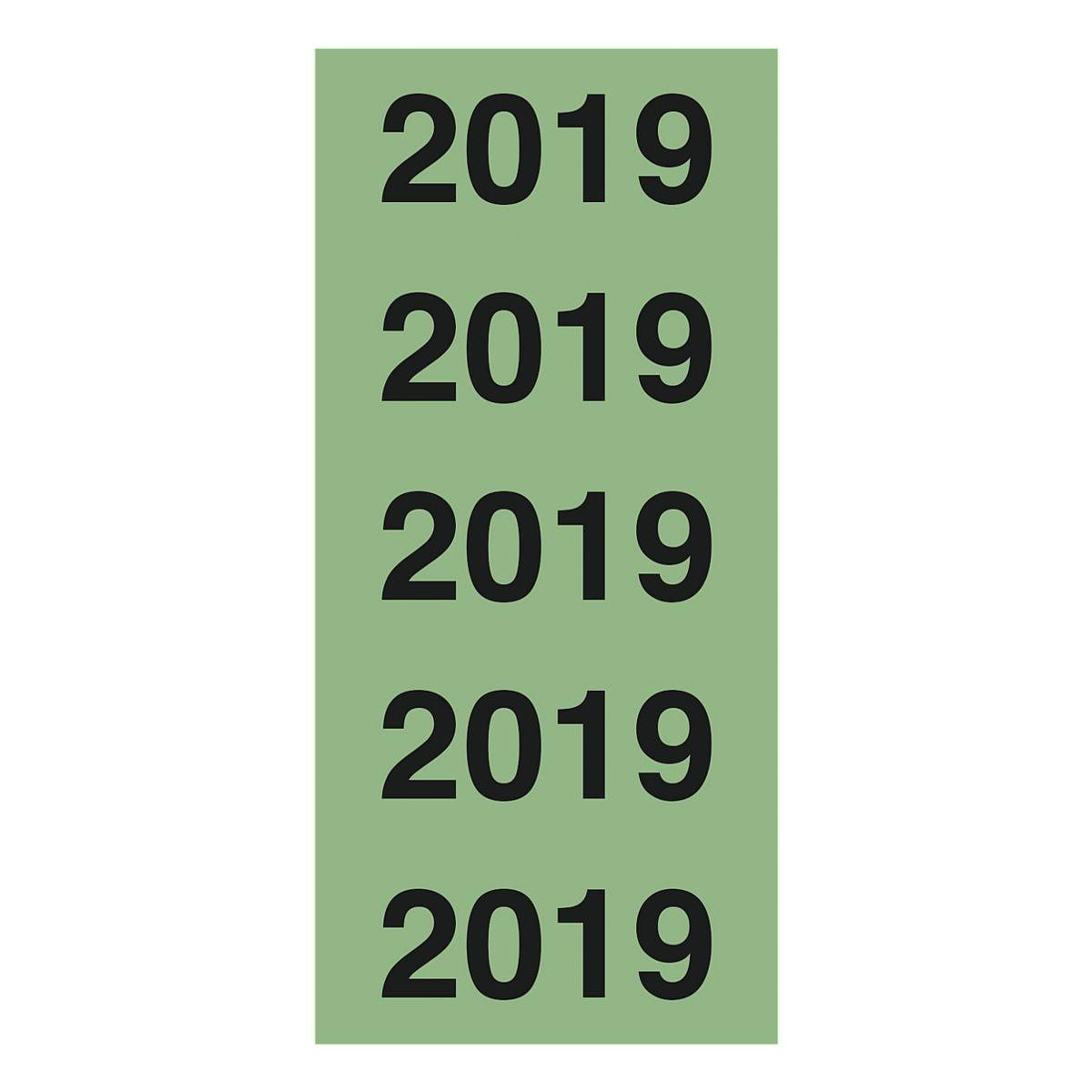 OTTO Office Selbstklebende Inhaltsschilder »Jahreszahlen 2019«