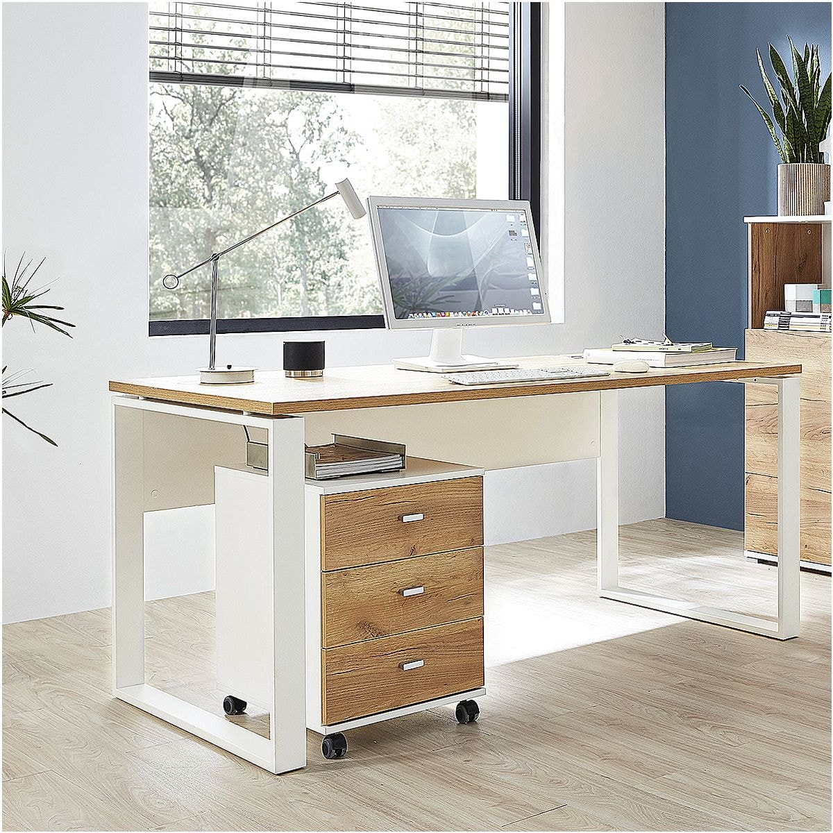 germania werke m bel set lioni 2 teilig schreibtisch mit rollcontainer bei otto office. Black Bedroom Furniture Sets. Home Design Ideas