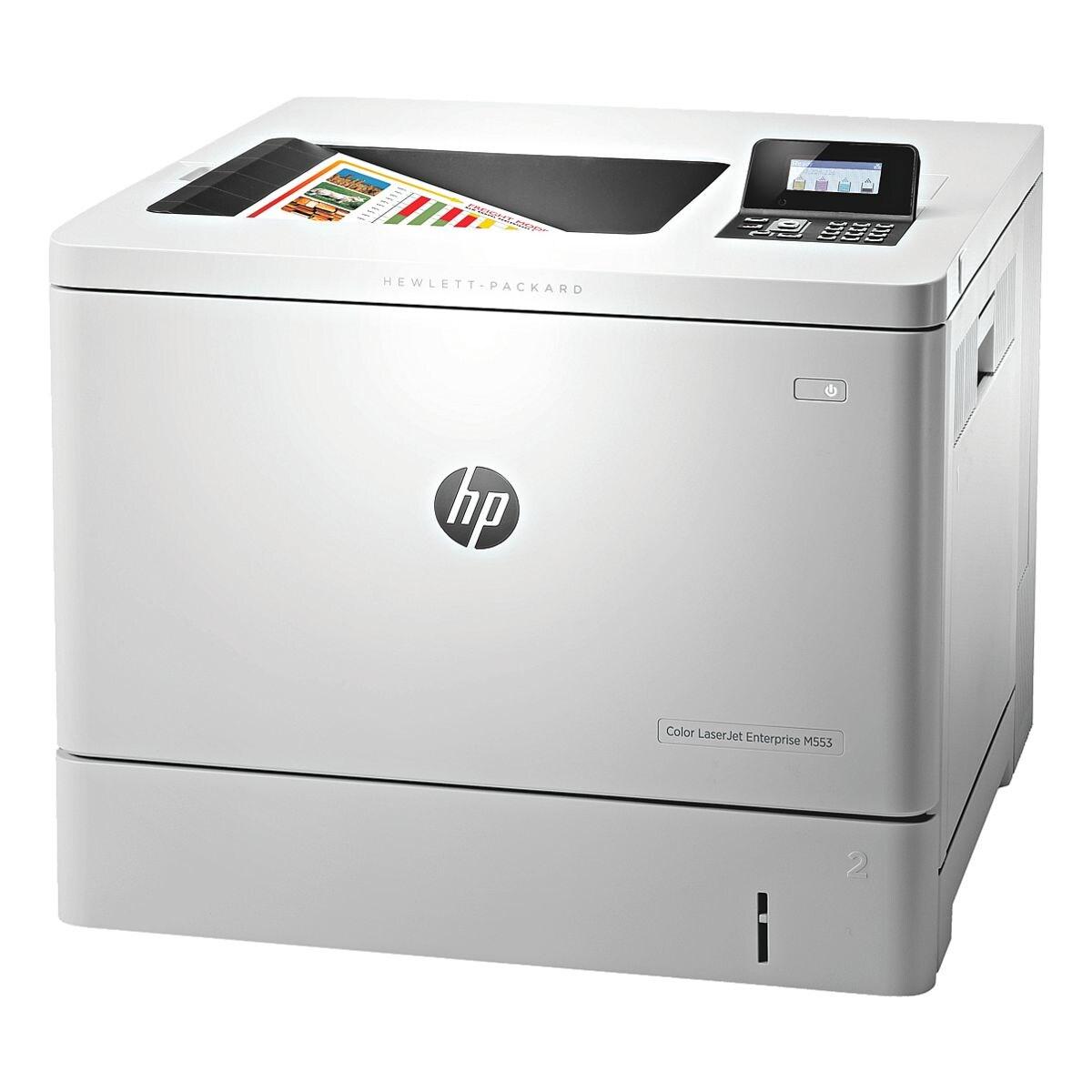 HP Laserdrucker Color LaserJet Enterprise M553dn, A4 Farb-Laserdrucker, 1200 x 1200 dpi, mit LAN