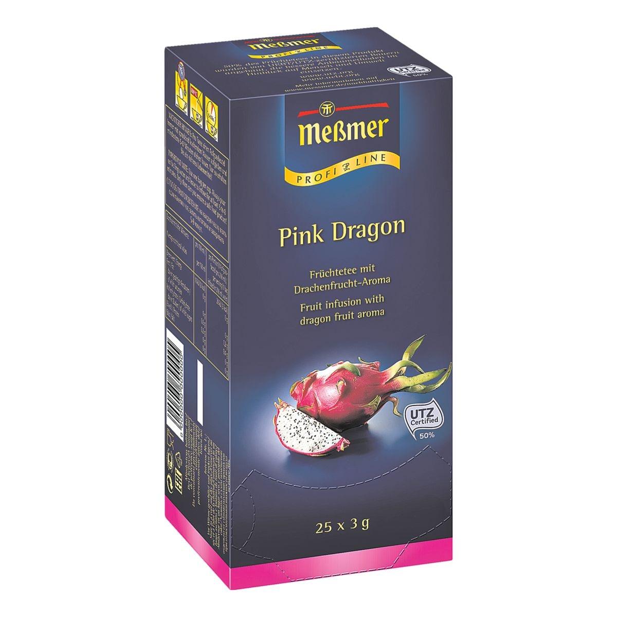 Meßmer Früchtetee »Profi Line Pink Dragon« Tassenportion, Aromakuvert, 25er-Pack