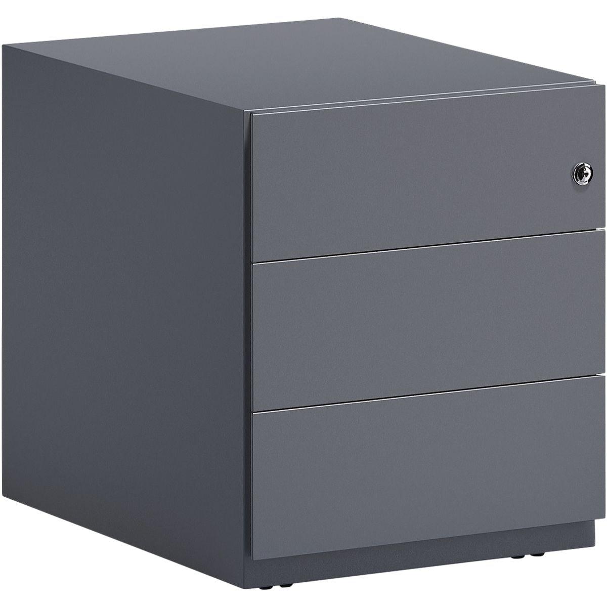 Bisley Stahl-Rollcontainer »Note« mit Universalschubladen, mit Griffleiste