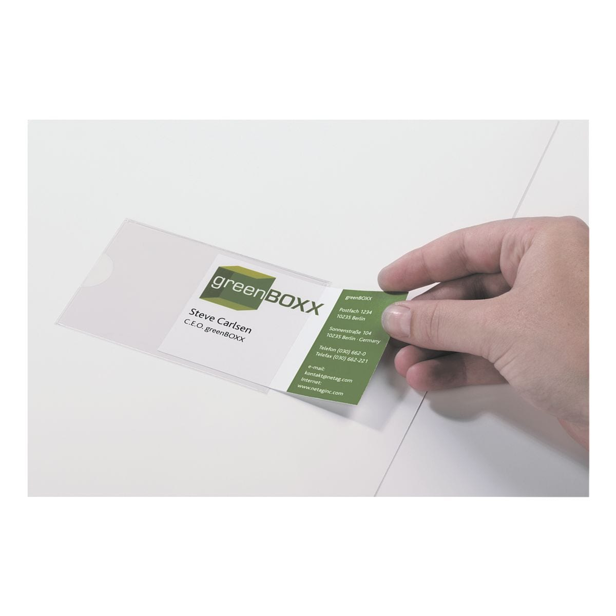 Durable Selbstklebe-Taschen »POCKETFIX®« 57 x 90 mm 10 Stück