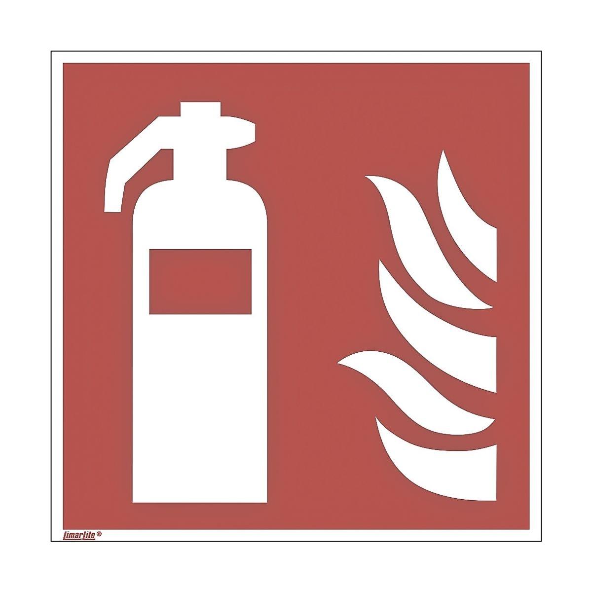 Sicherheitskennzeichen »Feuerlöscher [F001]« nachleuchtend 15 x 0,01 x 15 cm