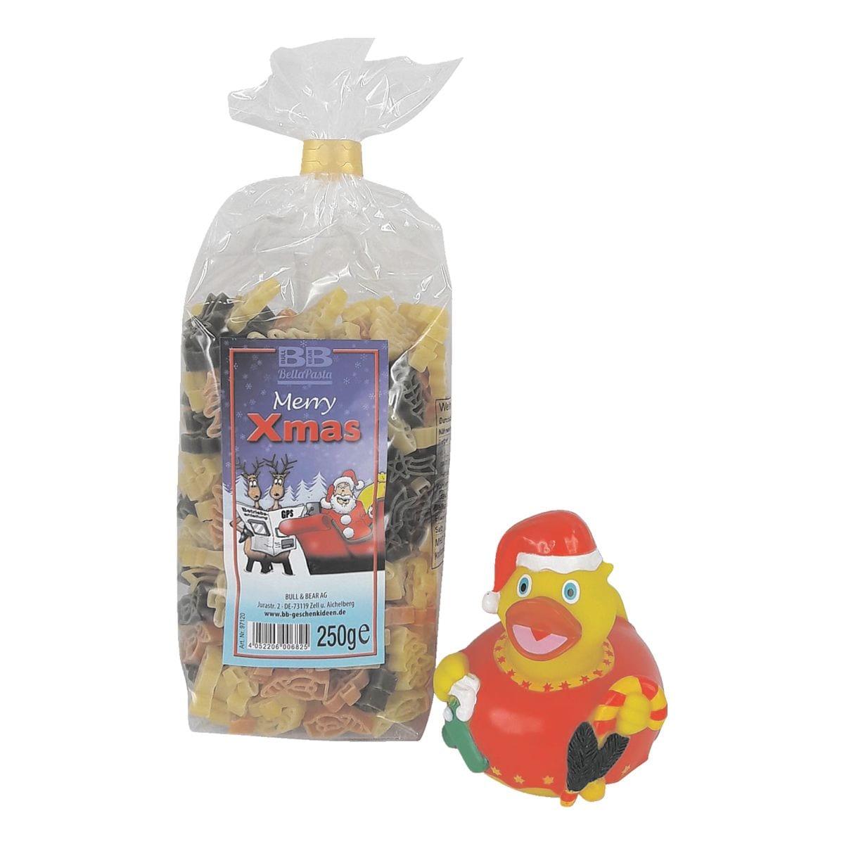 Geschenkset »Pasta Merry X-Mas + Quietsche-Entchen«