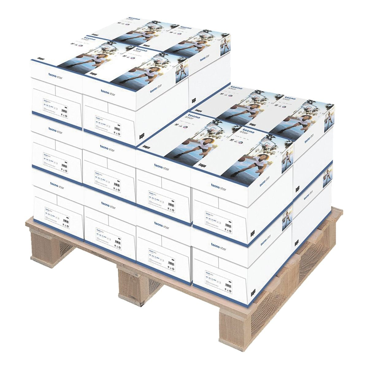 100x Kopierpapier A4 Inapa tecno Star - 50000 Blatt gesamt, 80g/qm