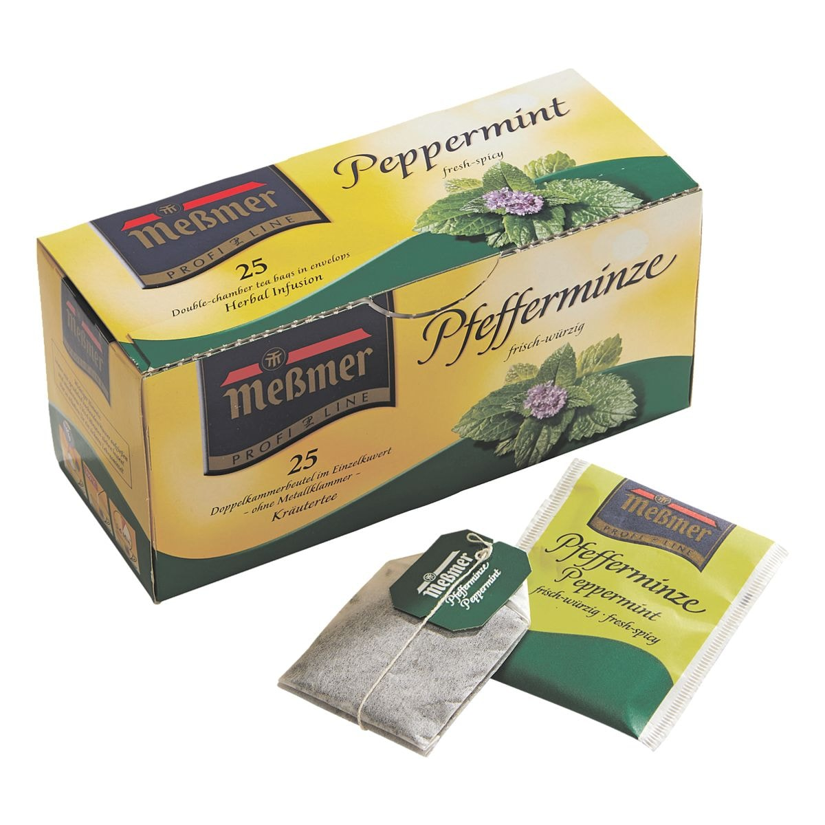 Meßmer Kräutertee »Pfefferminze« Tassenportion, Papierkuvert, 25er-Pack